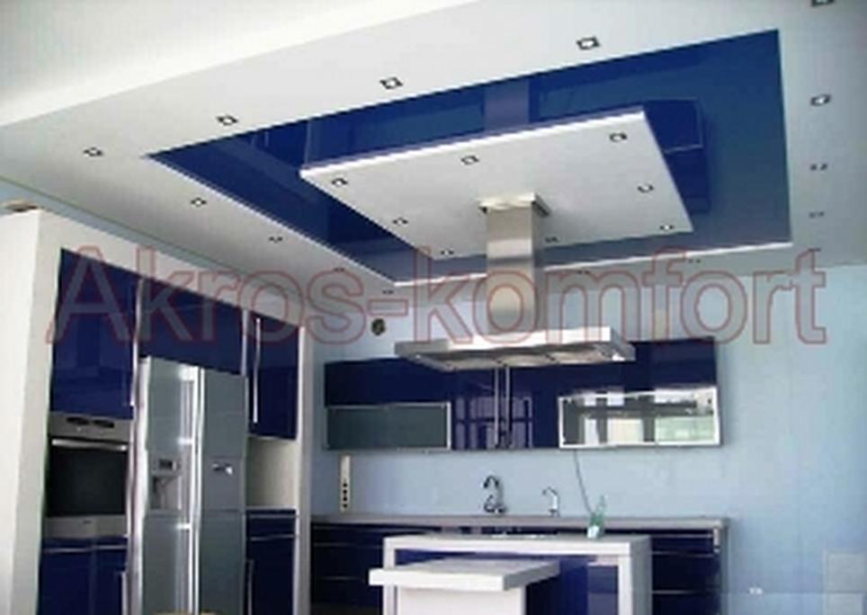 Натяжні стелі на кухні